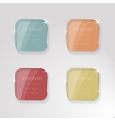 banner with a glass surface for your vector image vector image