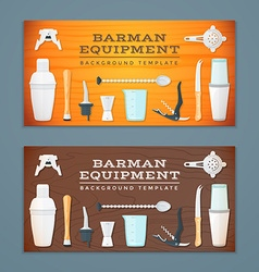 Barman tools banner backdrops templates vector