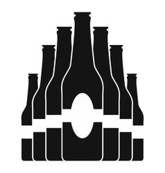 Bottles set black icon vector image