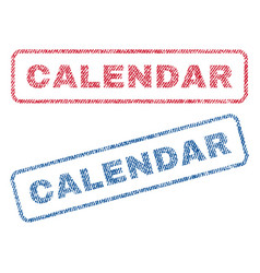 Calendar textile stamps vector