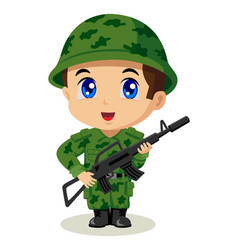 Chibi soldier vector