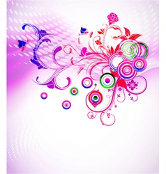 colorful abstract floral background vector image vector image
