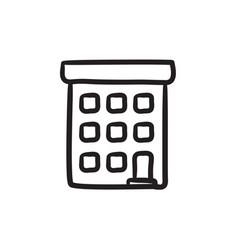 Condominium building sketch icon vector