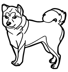 Dog and puppy coloring page vector