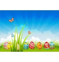 Easter festive background vector image