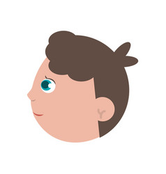 Face baby child son image vector