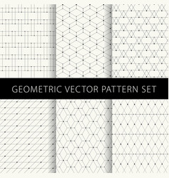 geometric pattern set vector image