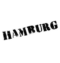 Hamburg stamp rubber grunge vector image