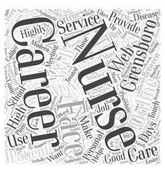 High caliber nursing careers in grensboro word vector