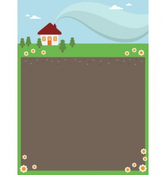 house frame vector image vector image