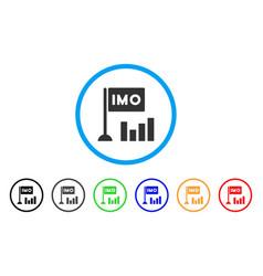 Imo bar chart icon vector