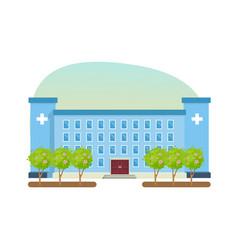 modern hospital building healthcare system vector image vector image