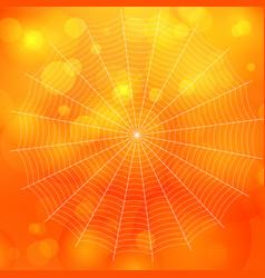 orange blurred bokeh halloween background with vector image