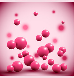 Pink fruit balls on abstract background vector