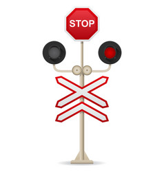 railroad crossing 01 vector image vector image