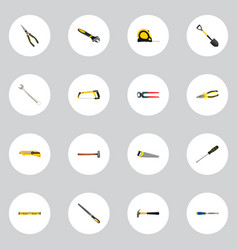 realistic spade claw chisel and other vector image vector image