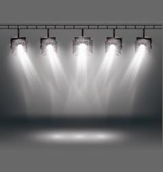 Scene illumination effects with spotlights vector