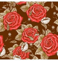 Seamless floral vintage pattern vector image vector image
