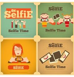 Selfie set vector