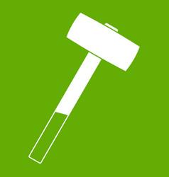 Sledgehammer icon green vector