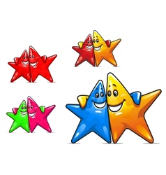 Smiling cartoon stars vector image