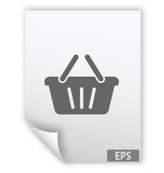 store basket icon vector image vector image