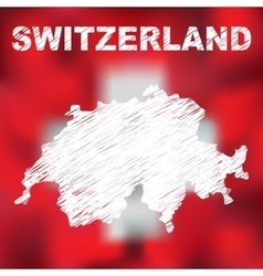 Swiss Abstract Map vector image