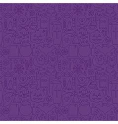 Thin holiday line halloween purple seamless vector