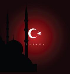 turkey travel landmarks vector image vector image