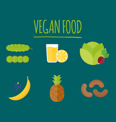 vegan food nature restaurant fruit vegetarian vector image vector image