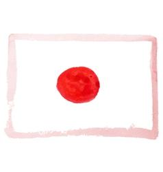 watercolor flag of Japan vector image