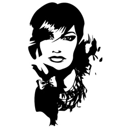 woman face profile portrait vector image vector image