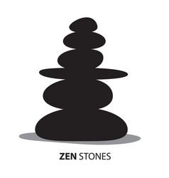 Zen stones black pebbles isolated on white vector