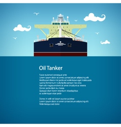 Oil tanker poster brochure flyer design vector