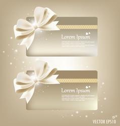 Elegant gift cards vector