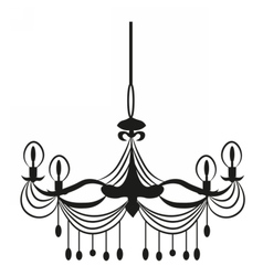 Classic chandelier on white vector