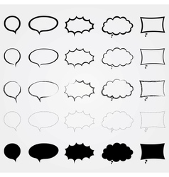 Comic speech bubbles set different styles isolated vector