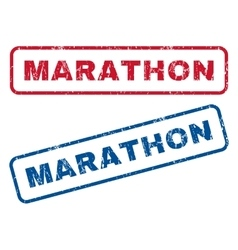 Marathon rubber stamps vector