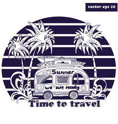 Summer bus vector