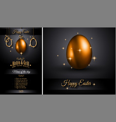 Restaurant menu template for 2017 easter vector