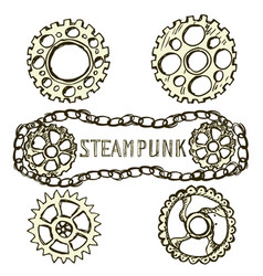 Steel gears steampunk vector