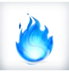 Blue fire icon vector