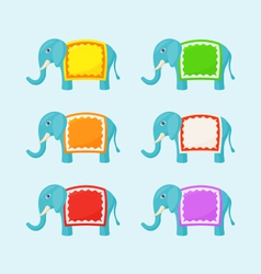 Elephant with small frame vector