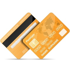 Orange credit card vector