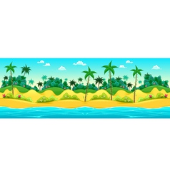 Landscape on the seashore vector