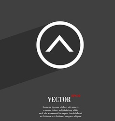 Direction arrow up icon symbol flat modern web vector