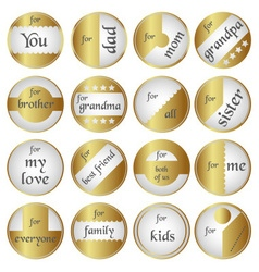 Shiny gold gift round tags for gifts eps10 vector