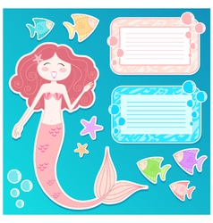 Mermaid set vector