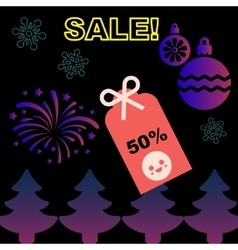 Christmas and new year sale promotion sticker vector