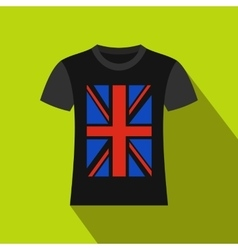 T-shirt with the British flag icon flat style vector image
